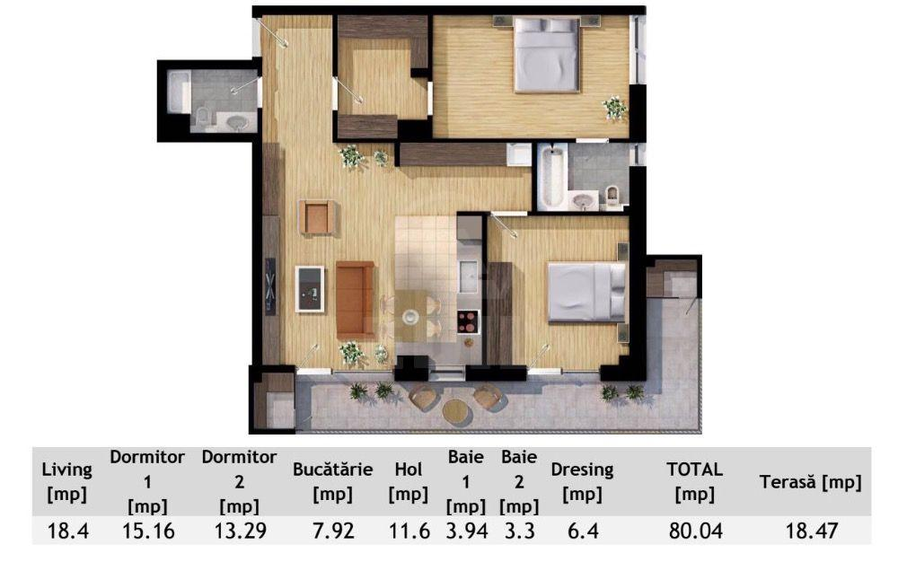 Apartment for sale 3 rooms, APCJ276638-2